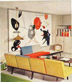 1960 Family Room  by SportSuburban, via Flickr