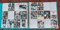 Project Life Idea...Day in the Life Idea...OH MY WORD! She did an entire two page spread with a bunch of tiny photos and lots of journaling! This is an AWESOME capture of a day in your life!
