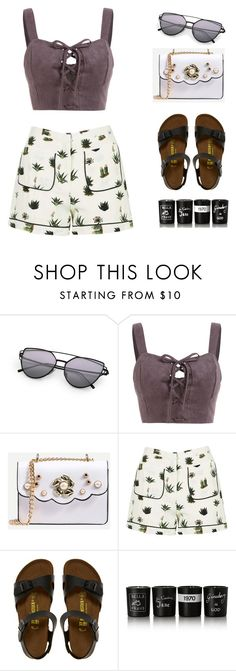 """""""Parkwalk in Sunset time"""" by itsmytimetoshinecoco ❤ liked on Polyvore featuring Topshop, Birkenstock and Bella Freud"""