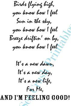 Nina Simone Feeling Good Lyrics Love Quote by SeaCrushPrintables