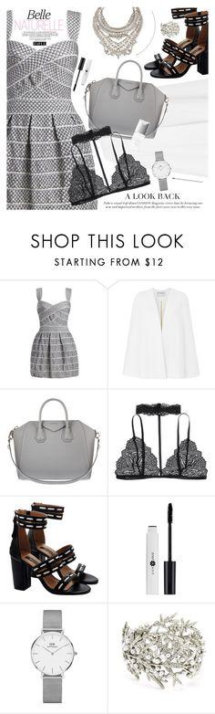 """Mini dress"" by vanjazivadinovic ❤ liked on Polyvore featuring Amanda Wakeley, Givenchy, Couture Colour, Daniel Wellington, Oscar de la Renta and DYLANLEX"