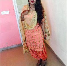 Phulkari Punjabi suit simple
