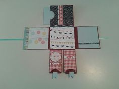 Mini album or big folding card, made out of one sheet of cardstock. Design paper patio party stampin up.
