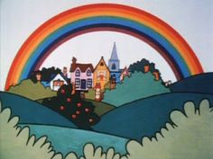 children's tv shows - Rainbow. Up above the streets and house, rainbow flying high. 1970s Childhood, My Childhood Memories, Star Wars Memorabilia, Kids Tv Shows, 90s Cartoons, Old Tv, My Memory, The Good Old Days, Old Things