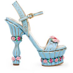 Accessories Index ❤ liked on Polyvore featuring shoes, heels, sandals and blue