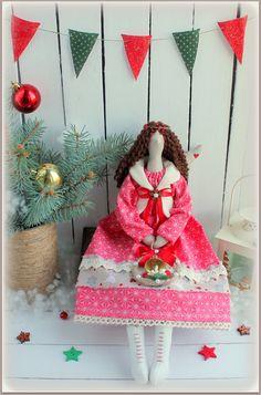 Poupée en tissu Tilda de Noël ange rag doll-cadeaux par MyShopDolls