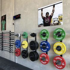 Diy Home Gym, Gym Room At Home, Home Gym Decor, Workout Room Decor, Workout Rooms, Plate Storage, Storage Rack, Crossfit Home Gym, Weight Rack