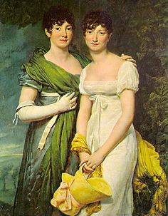 The Mollien Sisters by Rouget, 1811. Love Empire fashion.