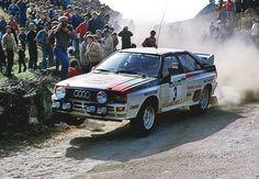 Audi Quattro of Hannu Mikkola at 1983 Rally Audi Sport, Sport Cars, Race Cars, Motor Sport, Subaru Rally, Rally Car, Audi Quattro, Vw Group, Lancia Delta