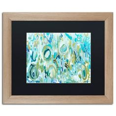 "Trademark Art 'Ujjayi Pranayama' Framed Painting Print Frame Color: Birch, Mat Color: Black, Size: 16"" H x 20"" W x 0.5"" D"