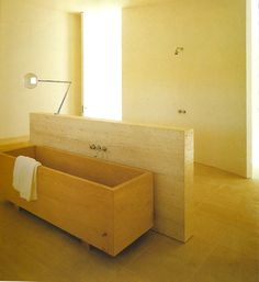 Bathroom by Claudio Silvestrin and John Pawson, Neuendorf House John Pawson, Interior Architecture, Interior And Exterior, Wc Design, Spa Treatment Room, Washroom Design, Interior Styling, Interior Design, Roll Top Bath