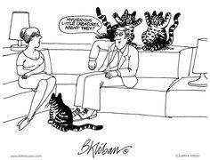 Kliban's Cats Comic Strip, April 10, 2012 on GoComics.com