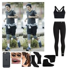 """Walking in Los Angeles with Harry Styles (Friend) #IB"" by jhessicakauana ❤ liked on Polyvore featuring adidas"
