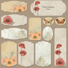 Excellent Vintage flower labels vector 01- click on the green arrow to download the zipfile- click on the jpeg file- save as!