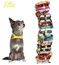 Collare Ella Carlotte's Dress  Raffinato collare con fiocco in ecopelle. Disponibile in tutti i colori tranne mimetic e leopard. Finiture: gold free.  🛒PREZZO € 27