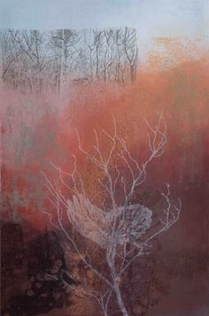 Autumn by Bridget Tempest Monoprint with offset etching 56 x 90cms