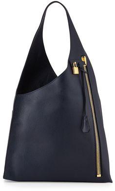 Tom Ford Alix Zip Hobo Bag