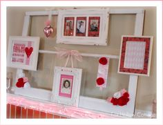 Use an old window to display valentines! >> http://diy.roomzaar.com/rate-my-space/Holidays/Valentines-Mantel/detail.esi?oid=27318368=pinterest#