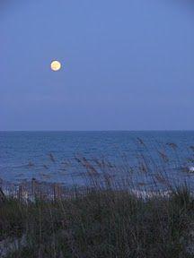 Moon over Topsail Beach, NC