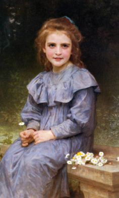 GIRL-BLUE-DRESS-WITH-DAISIES-FLOWERS-PAINTING-BY-BOUGUEREAU-ON-PAPER-REPRO-SMALL