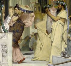 Dido of Carthage Details from The Vintage Festival by Sir Lawrence Alma-Tadema 1871 oil on wood panel National Gallery of Victoria