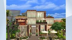 Check out this lot in The Sims 4 Gallery! - PLEASE DO NOT REUPLOAD TO GALLERY, thx :) Please respect the time  a creator puts into their builds by not reuploading to gallery #restaurant#dine#diner#dinner#date#dineout#grill #modern#red#mks#nocc#Mandykay77#Stopstealing