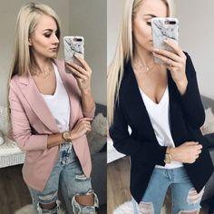 US Women Long Sleeve Cardigan Jacket Casual Blazer Suit Top Jacket Coat Outwear Blazer Jackets For Women, Blazers For Women, Cardigans For Women, Suits For Women, Women Blazer, Fit Women, Casual Blazer, Blazer Suit, Blazer Fashion