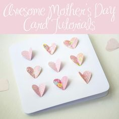Give Handmade: 12 Awesome Mother's Day Craft Tutorials You Must Try: 12 Free Handmade Mother's Day Card Tutorials Diy Mother's Day Crafts, Mother's Day Diy, Crafts To Do, Paper Crafts, Pop Out Cards, Paper Pop, Diy Mothers Day Gifts, Card Tutorials, Homemade Cards