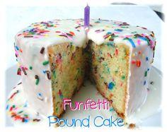 Los Inventos de Lisa: Pound Cake de Queso y Funfetti