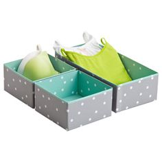 Blue Pippi Drawer Organizers from The Container Store #matildajaneclothing #MJCdreamcloset