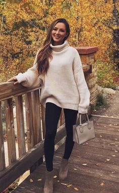 What's Trending: 37 Stylish Outfits Turtleneck Outfit, Sweater Outfits, Fall Winter Outfits, Autumn Winter Fashion, Cute Sweaters, Sweaters For Women, Stylish Outfits, Cute Outfits, Clothes For Women