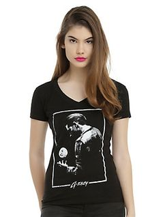 G-Eazy Moon Photo Girls T-Shirt, BLACK