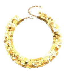Marie Helene de Taillac 'Sequins' necklace made with hundereds of gold paillettes.