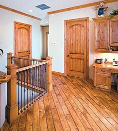 Best Hickory Floor Cherry Stained Doors And Trim Color 400 x 300