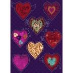 19 in. x 27 in. Valentine Wall Decal, Reds/Pinks