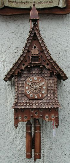 A new cuckoo clock made by the Master Carvers Club in Triberg, Germany. Available only at the store!