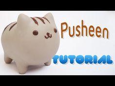 Pusheen Polymer Clay Tutorial   Pusheen Porcelana Fría / Plastilina - YouTube