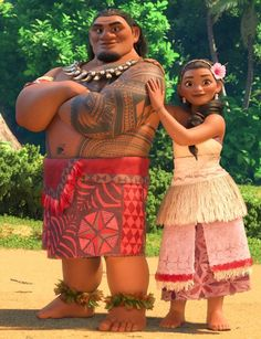 Tui and Sina are characters in the upcoming Disney animated feature film Moana…