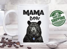bear coffee mug, funny mug, cute bear mug, mama bear mugs, papa mama bear, mama papa bear, animal mug, mama bear coffee cup, funny mom mug, funny mugs, gift for her mug, mummy mug, mother mug  The best relaxing time of a day is coffee time and this cute gift brings a sweet smile every time when they enjoy their cup of coffee !! It brings back all the special memories and makes a perfect gift for any occasion !! With the same design, If you like to have the word MAMA changed to something…