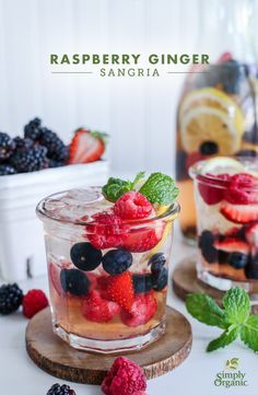 Mix up this gorgeous summer sangria recipe featuring ginger, cinnamon and a hint of mint making it perfect for any occasion. | Simply Organic