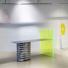 table 2017.11 #objet #table #installation Table Furniture, Cool Furniture, Furniture Design, Retail Store Design, Retail Space, Shop Interior Design, Colorful Furniture, Modern Design, Ader Error