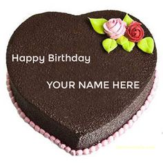 Cake Images Write Name : heart shaped chocolate birthday cake pictures with name ...