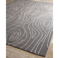 outdoor woodgrain rug by Horchow
