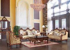 Torrance Victorian Formal Living Room Set