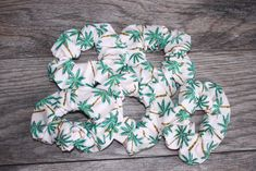 Palm Tree Hair Scrunchie, Wrist Scrunchie, Gift for Her, Teen Gift, Gift under 5, VESCO Girl, Hair Tie by NorthernFireflies on Etsy Gifts For Teens, Gifts For Her, Stretchy Material, Hair Ties, Scrunchies, Burlap Wreath, Palm Trees, Colours, Girl Hair