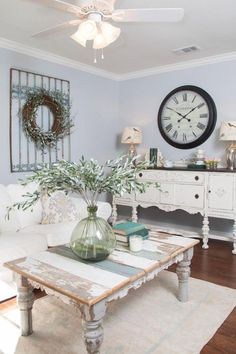 23 Best Ideas for a Rustic Chic Home: Incorporate greens with a chic tabletop plant or a DIY wreath for the wall.
