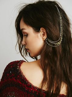 Free People Ear Cuff to Hair Chain at Free People Clothing Boutique