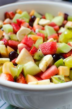 Strawberry Kiwi Melon Fruit Salad! – My Incredible Recipes