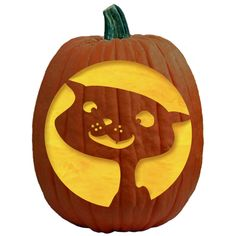 Bean the Cat pumpkin carving template  #beancat #bean #cat #pumpkin #halloween…