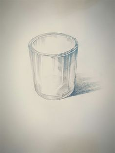 유리컵 소묘